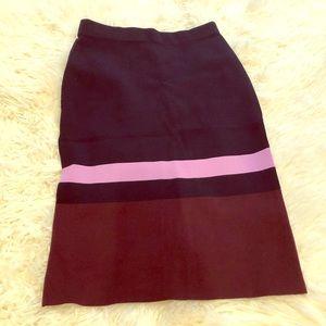 Ann Taylor Pencil Skirt, Back Slit - Size XSP